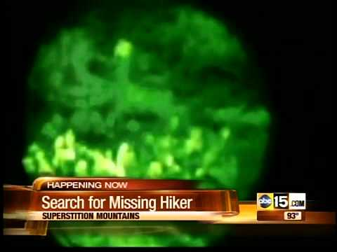 Searchers use infrared technology to search for missing hike