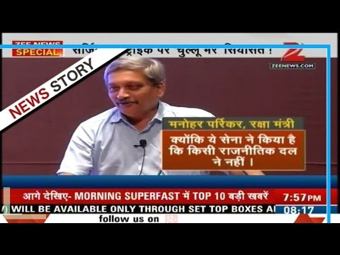 Surgical strikes: Congress slams Parrikar for giving credit to PM Modi