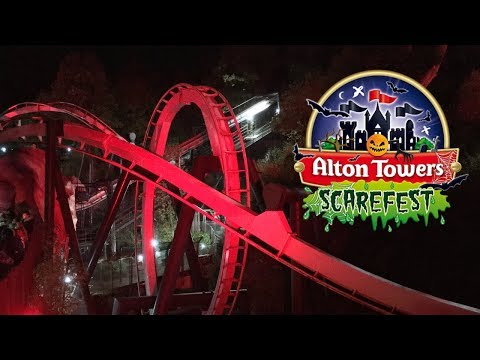 Alton Towers Scarefest Vlog  | Halloween Night October 2018