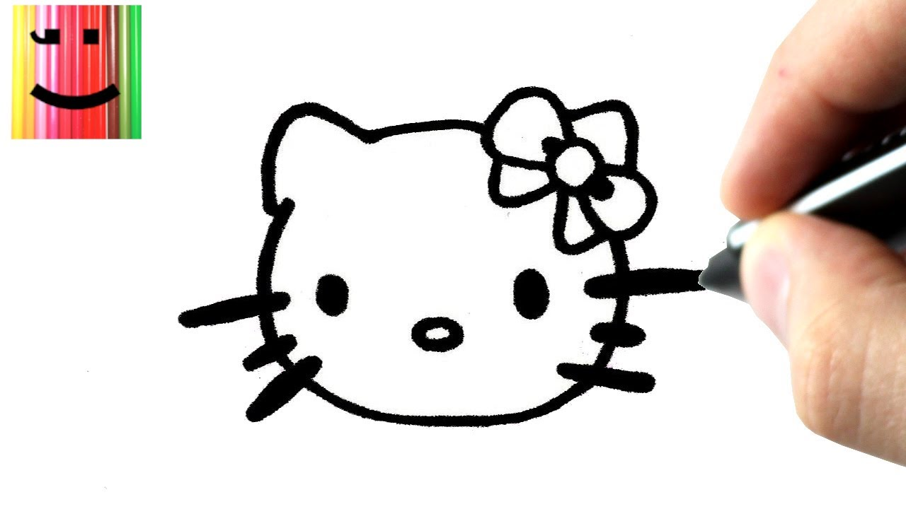 Charming Comment Dessiner Hello Kitty Facilement #7: Comment Dessiner Hello Kitty TUTORIEL