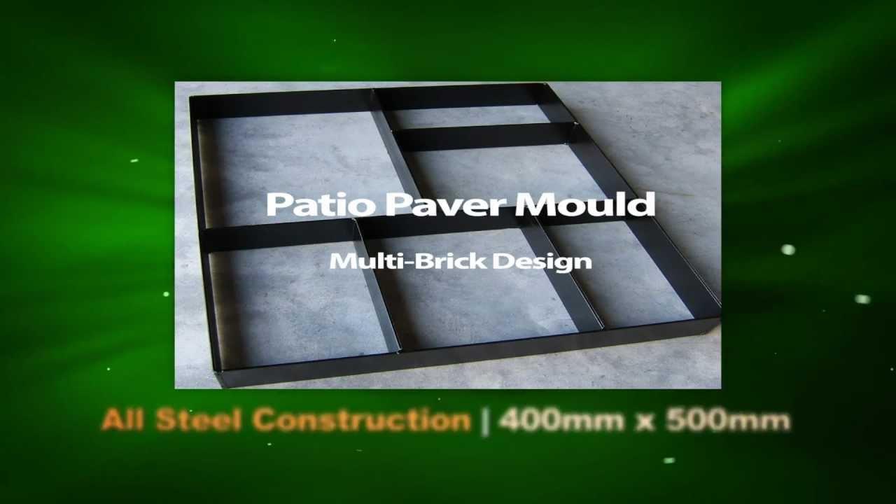Garden Patio Paver Maker Mould Mold   Imprinted Concrete Tool   YouTube