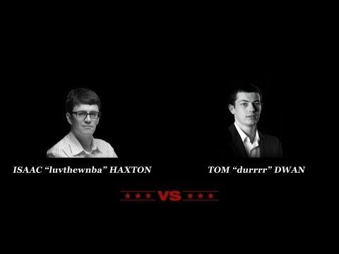 "Tom ""durrrr"" Dwan vs Isaac ""luvthewnba"" Haxton Table 1 - pokerstars vs tilt pros poker"