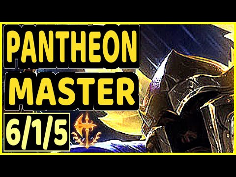 YANG (PANTHEON) - 6/1/5 KDA GAMEPLAY - BR Ranked MASTER