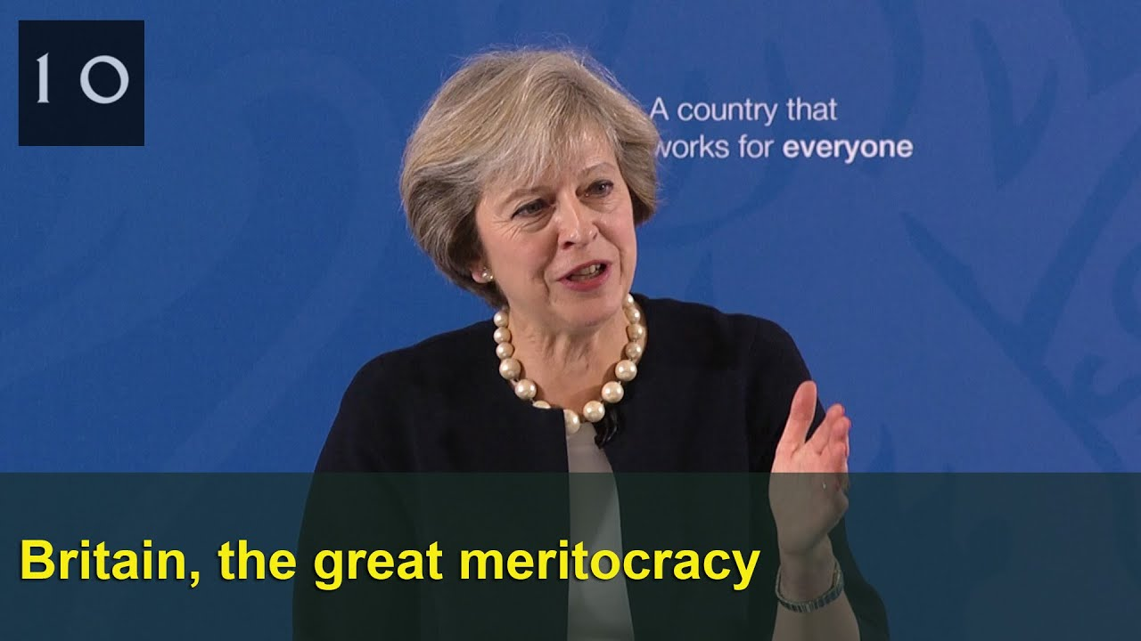 Britain The Great Meritocracy Prime Ministers Speech