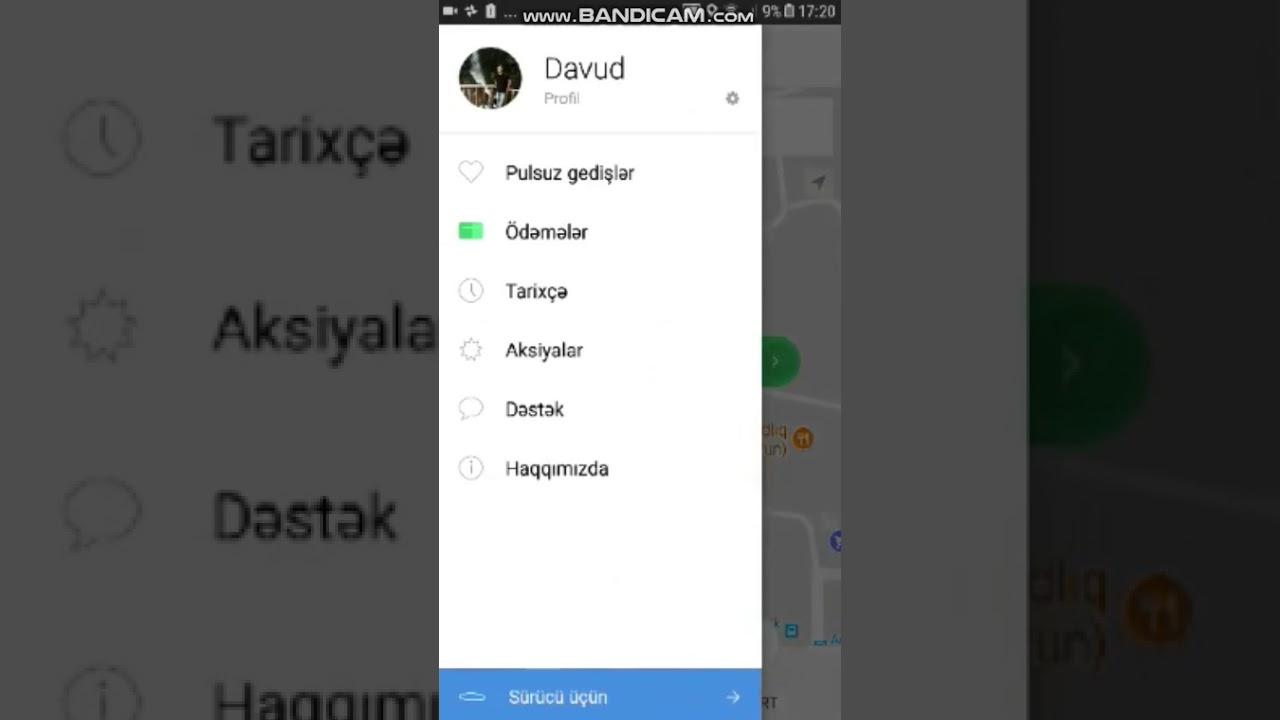 Taxify Baku  Pulsuz 10 azn deyerinde gedish