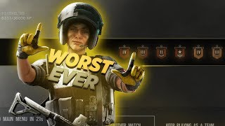 The WORST I've EVER Been Ranked - Rainbow Six Siege