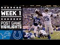 Lions vs. Colts | NFL Week 1 Game Highlights