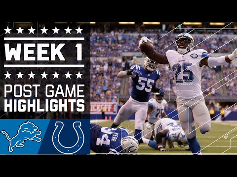 Lions vs. Colts (Week 1) | Game Highlights | NFL