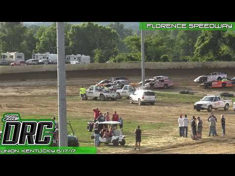 Florence Speedway | 6.17.17 | Slicker Graphics UMP Modifieds | Heat 1