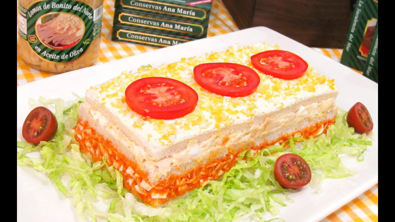 Pastel f cil de bonito del norte con pan de molde youtube for Youtube cocina para todos
