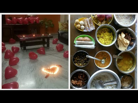Husband Surprise Birthday Celebrations With Love || Cooked His Favourite Dishes || Surprise Ideas