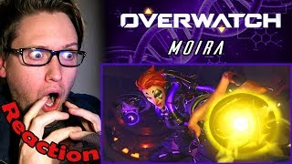 "New Hero ""MOIRA"" OVERWATCH REACTION! 