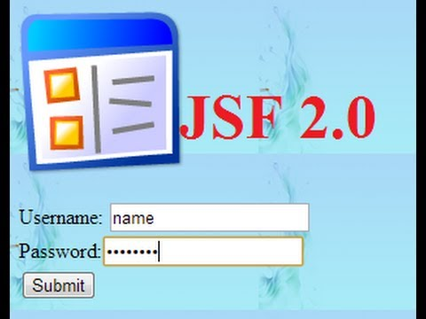 JSF (JavaServer Faces) Tutorial 6: Simple Login Application by ...