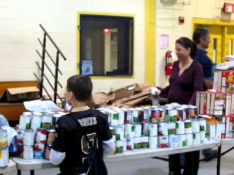 Thanksgiving Food Basket Assembly Line - Wilmington Jaycees