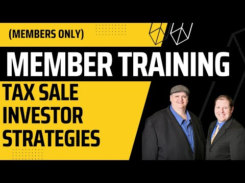 "Tax Sale Workshop:  Tax Lien & Tax Deed ""Investor Strategies"" Training (11/4/17)"