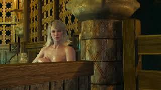 The Witcher 3 - Кейра Мец моется в ванной.