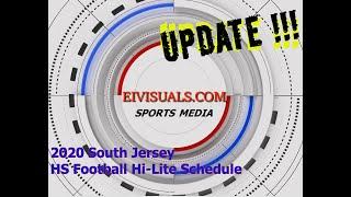 2020 South Jersey HS Football Hi-Lite Schedule.