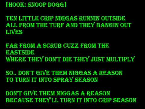 Snoop Dogg- 10 Lil Crips - YouTube