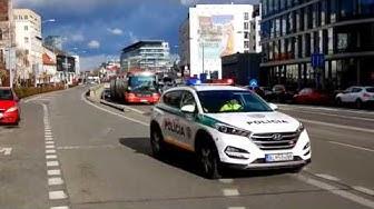 VIP Police escort - USA delegation in Bratislava 12. 2. 2019 (4K)