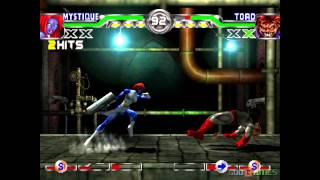 X-men Mutant Academy 2 - Gameplay PSX / PS1 / PS One / HD 720P (Epsxe)