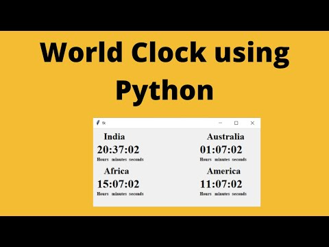 How To Create A World Clock Using Python