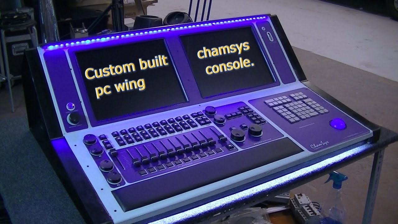 Custom Built Chamsys Pc Wing Console.   YouTube