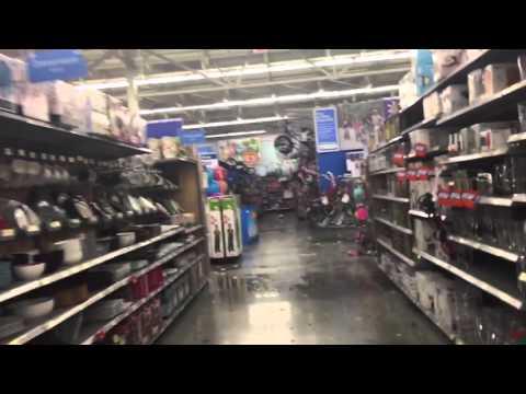 Walmart San Antonio hail damage 04/12/16 - YouTube