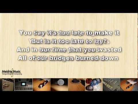 Maroon 5 - Payphone (instrumental lowered key with lyrics)