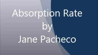 How to Calculate Absorption Rate (in Real Estate terms)
