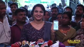 Actress Suganya pay homage to Aachi Manorama