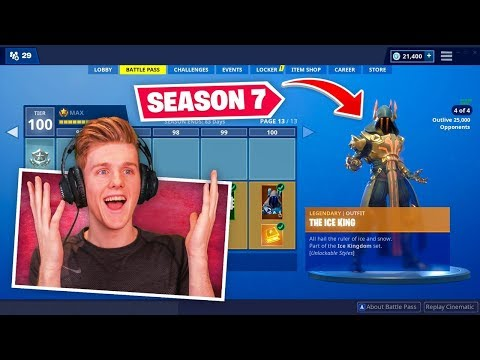 *NEW* SEASON 7 BATTLEPASS In Fortnite (100% UNLOCKED)
