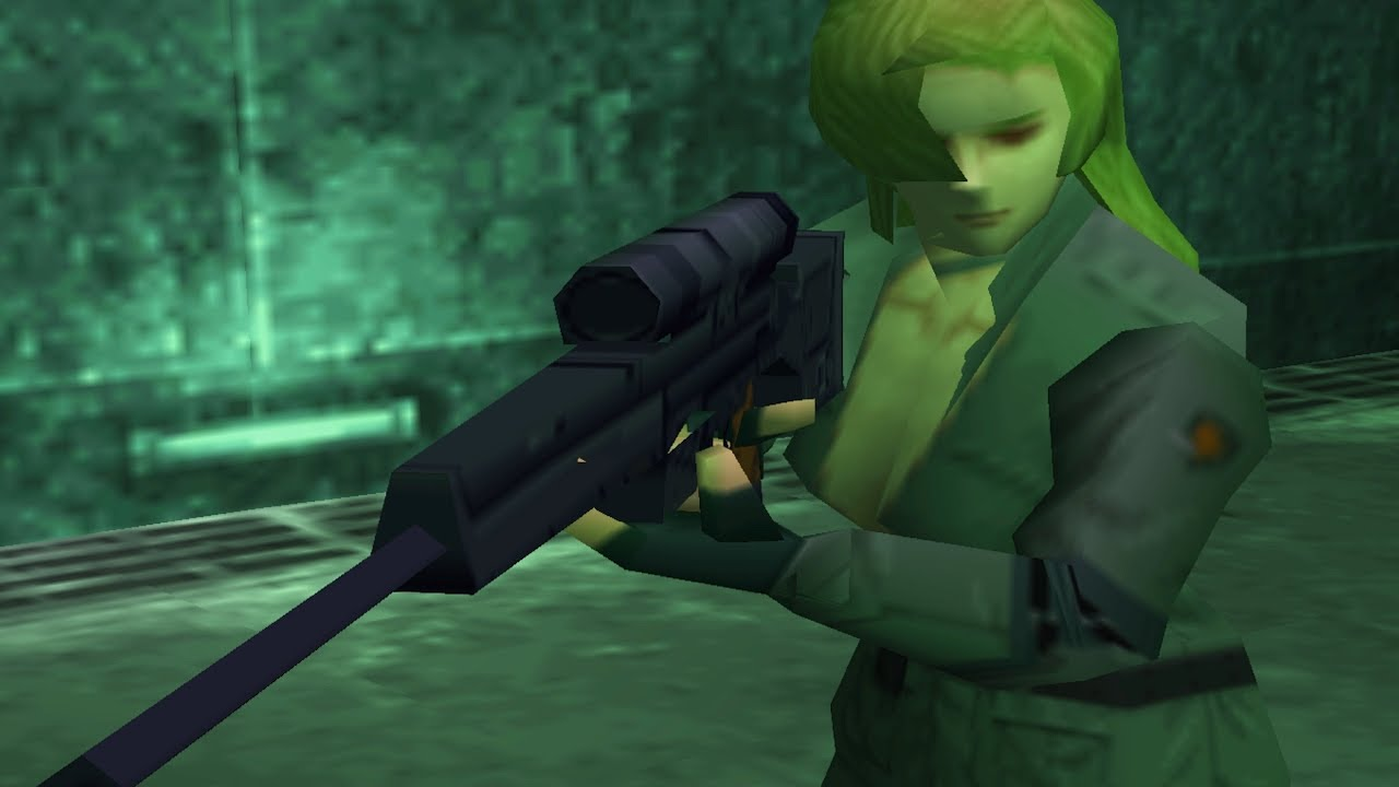 Metal Gear Solid: Sniper Wolf Boss Fight (Part 1) - YouTube