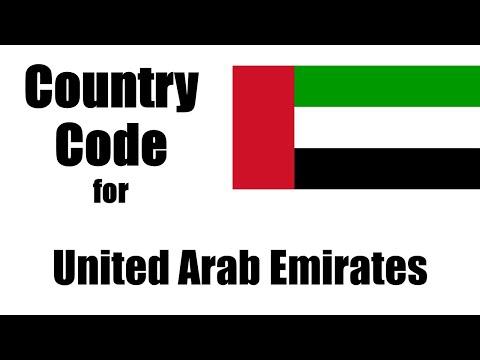United Arab Emirates Dialing Code - Emirati Country Code - Area Codes In United Arab Emirates