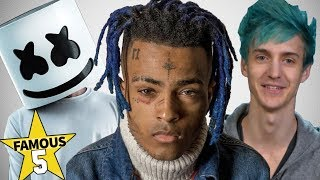 Top 5 | Famous People of 2018 ( RIP Xxxtentacion, Ninja, Marshmello & more )