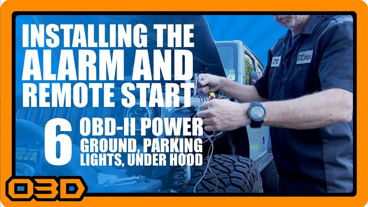 06 - Alarm and Remote Start Install - OBDII, Ground, Parking Lights ...