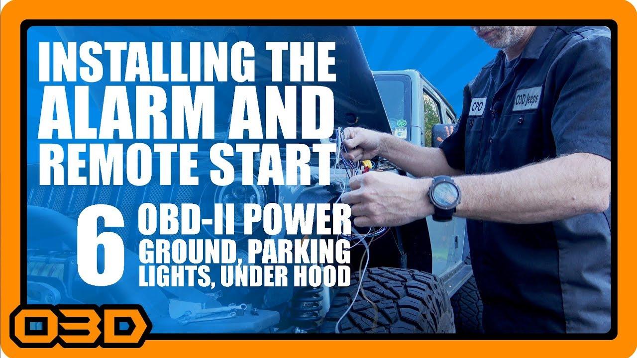 medium resolution of 06 alarm and remote start install obdii ground parking lights horn siren hood pin switch