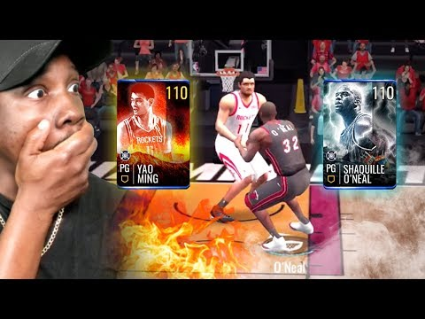 110 OVR 12 FOOT TALL SHAQ Vs YAO! (Shaq Week) NBA Live Mobile 19 Season 3 Ep. 131