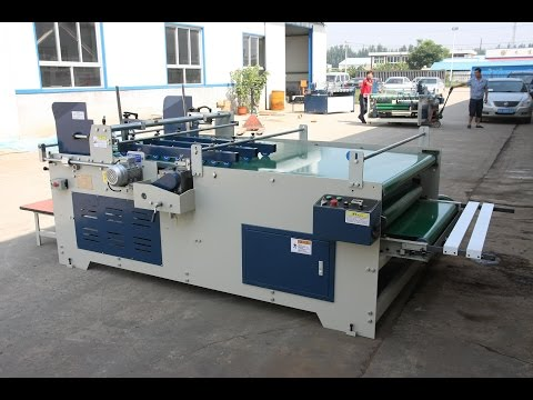 SEMI AUTOMATIC FOLDER GLUER NEW MACHINE  MODEL JWY