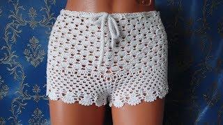 Пляжные шорты крючком. Shorts crochet