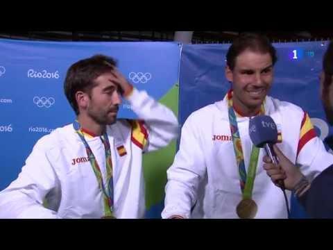 RAFA NADAL y MARC LÓPEZ medalla de ORO en JJOO RIO 2016