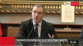 Salvador del Solar presentó informe de descentralización al Congreso