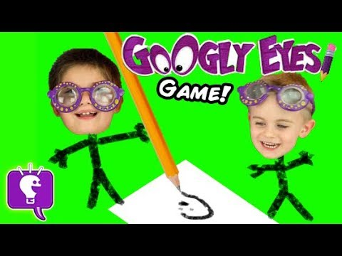 Googly Eyes Game! Family Fun Drawing Challenge Contest by HobbyKidsTV
