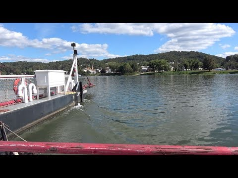 Sistersville Wv Ferry Boat, Crossing The Ohio River