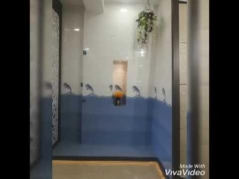 Kajaria kitchen and bathroom tiles - YouTube