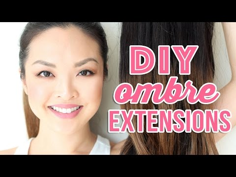 HOW TO: Dye and Ombre Hair Extensions At Home! - YouTube