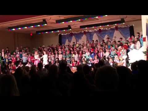 Nila Zabihian at Bulverde creek elementary school singing snow biz December 2017 Mrs. Floyd