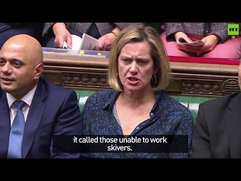 """Rubbish! says Amber Rudd as Corbyn accuses Tories of calling disabled people 'scroungers'"