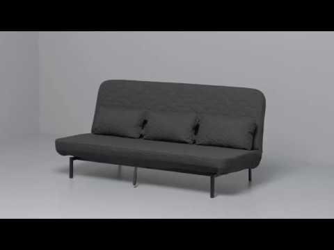 Seats And Sofas Slaapbank.Ikea Nyhamn 3 Zitsslaapbank Youtube