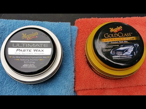 Meguiar's Ultimate Paste Wax VS Meguiar's  Gold Class Carnauba Plus Paste Wax(water test)