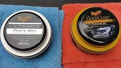 Meguiar's Ultimate Paste Wax VS Meguiar's  Gold Class Carnauba Plus Paste Wax(water test)